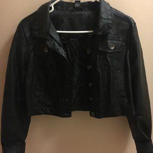 Rue 21 Black Fake Leather Jacket